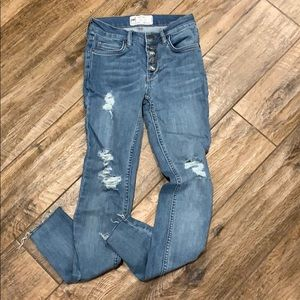 Free People Distressed Jeans Sz 24